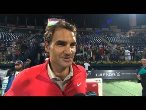 Dubai 2014 Saturday Final Federer