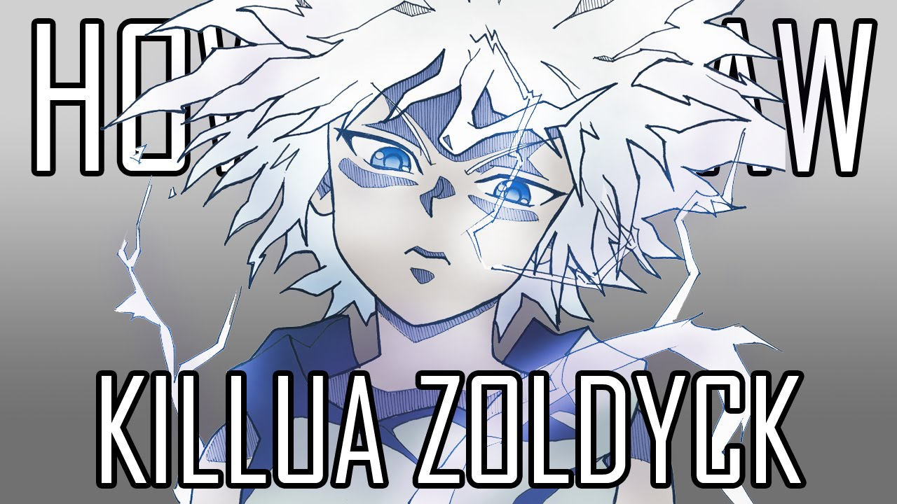 how to draw killua step by step