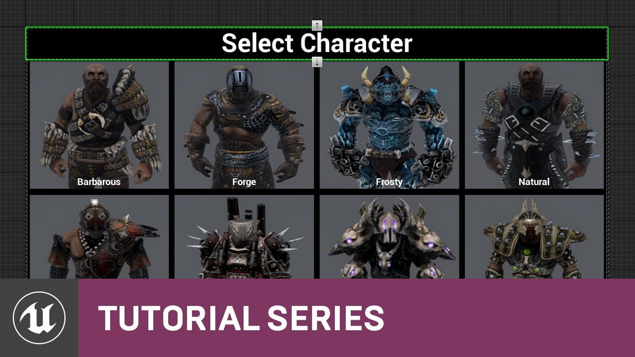 Blueprint multiplayer character select design 20 v411 tutorial blueprint multiplayer character select design 20 v411 tutorial series unreal engine malvernweather Image collections