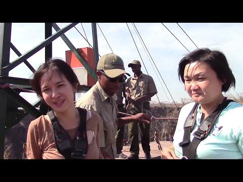 กระโดดเหว ที่น้ำตกวิคทอเรีย Gorge Swing At Victoria Falls,Bungee Jump ,Zimbabwe