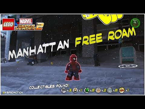 Lego Marvel Superheroes 2: Manhattan FREE ROAM (All Collectibles) - HTG