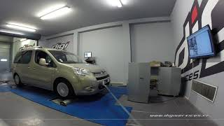 Citroen Berlingo 1.6 hdi 92cv Reprogrammation Moteur @ 110cv Digiservices Paris 77 Dyno