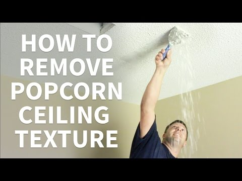 How to remove popcorn ceilings the easy way funnycat tv for How to remove popcorn ceiling without water