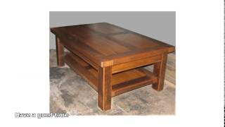 Hardwood coffee table