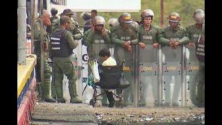 Niño en silla de ruedas pide a Guardia Nacional de Venezuela que lo dejen entrar a su país
