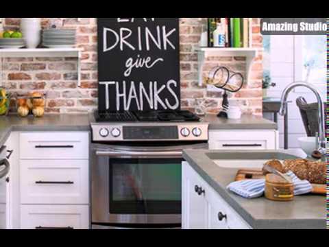 Cozy Brick Kitchen Backsplash