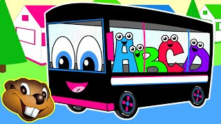 The Wheels On The Bus | Black Bus Version | Nursery Rhymes | Kids Learning Songs | Childrens Video