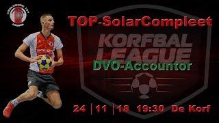 TOP/SolarCompleet 1 tegen DVO/Accountor 1, zaterdag 24 november 2018