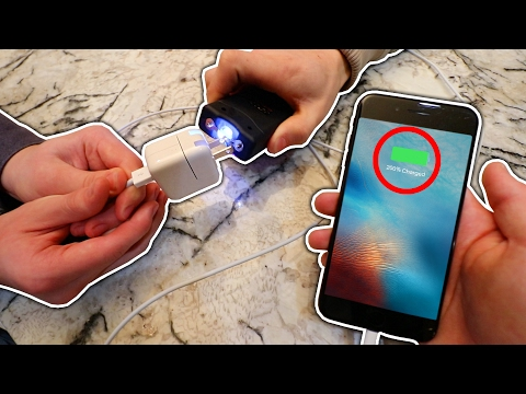 EXPERIMENT TASER VS IPHONE CHARGER! (WILL IT CHARGE?) | David Vlas