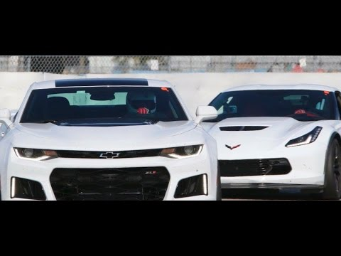 2017 Camaro Zl1 Vs 2016 C7 Z06 Track Day Youtube