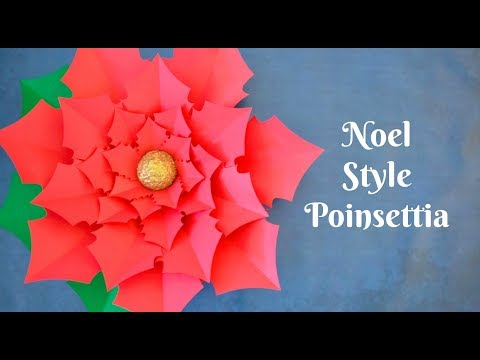 How to Make Giant Paper Poinsettia Flowers