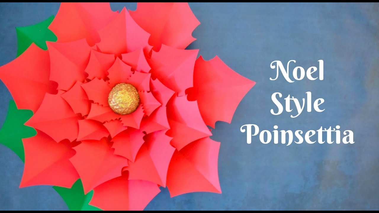 How to make giant paper poinsettia flowers youtube how to make giant paper poinsettia flowers mightylinksfo