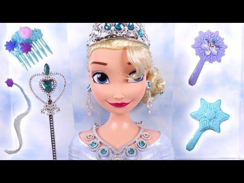 Reine des Neiges Elsa Tête à Coiffer Bijoux ♥ Frozen 2 Elsa Styling Head