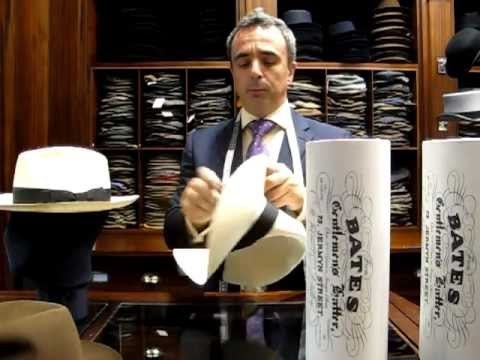 How to fold a Panama Hat