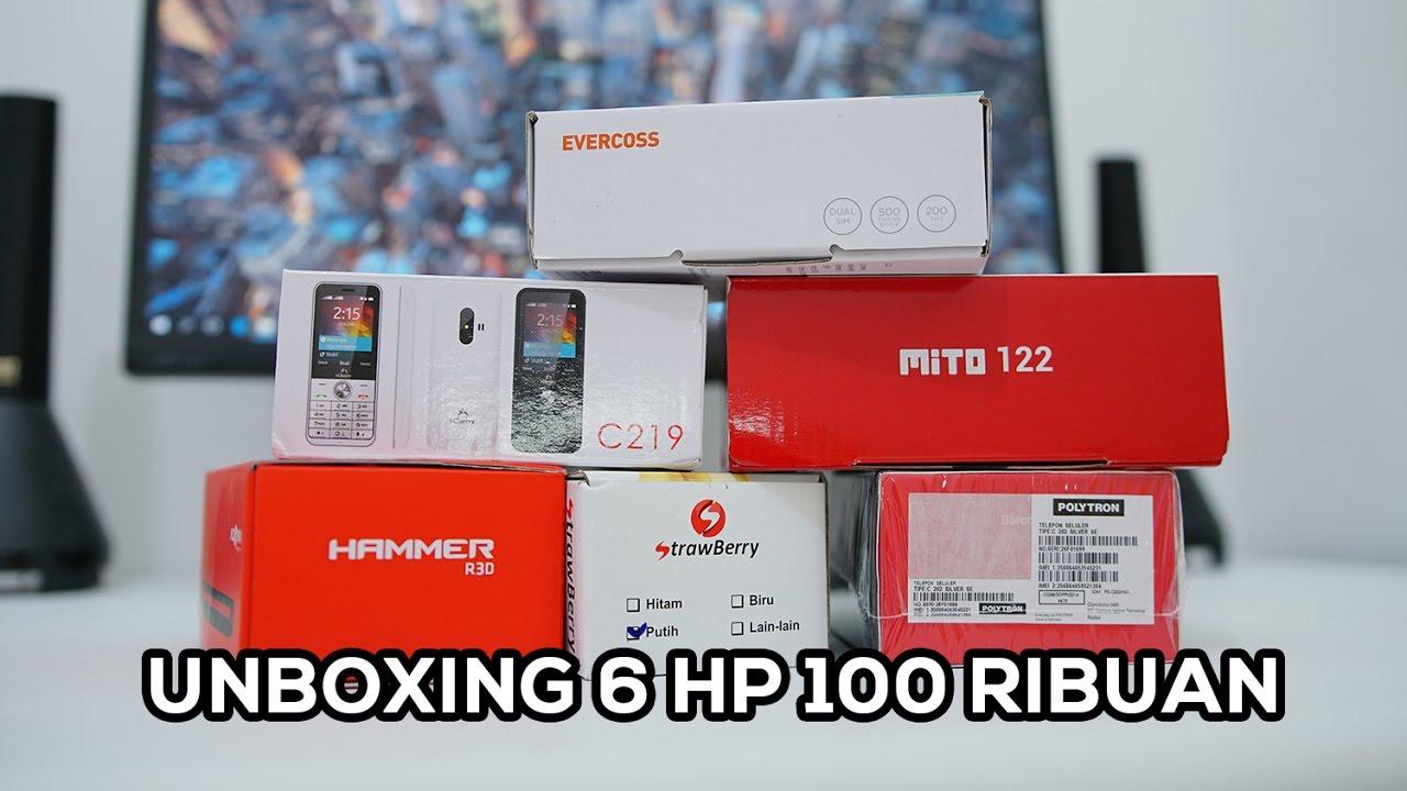 Unboxing Feature Phone Evercoss Advan Polytron Mito Icherry Hp Strawberry Seken