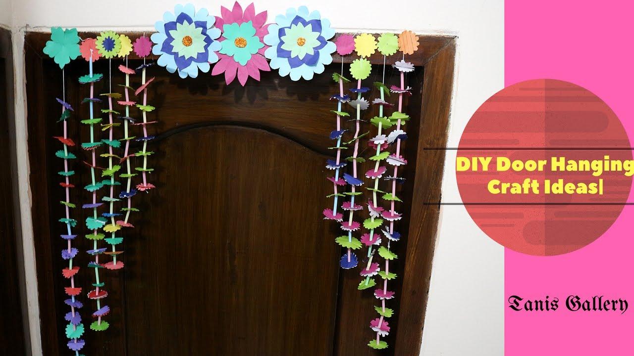 How To Make Door Wall Hanging Decoration Diy Door Hanging Craft
