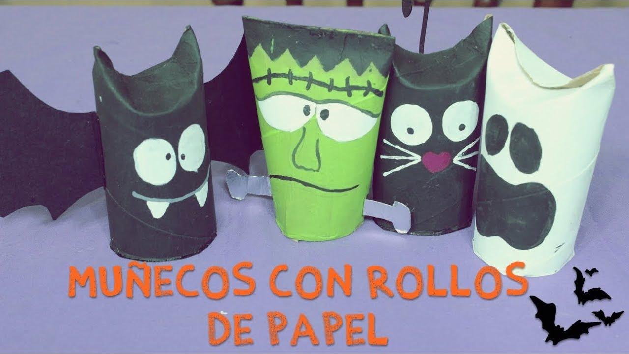 Pixxelart mu equitos para halloween con rollos de papel - Decoracion con rollos de papel higienico ...