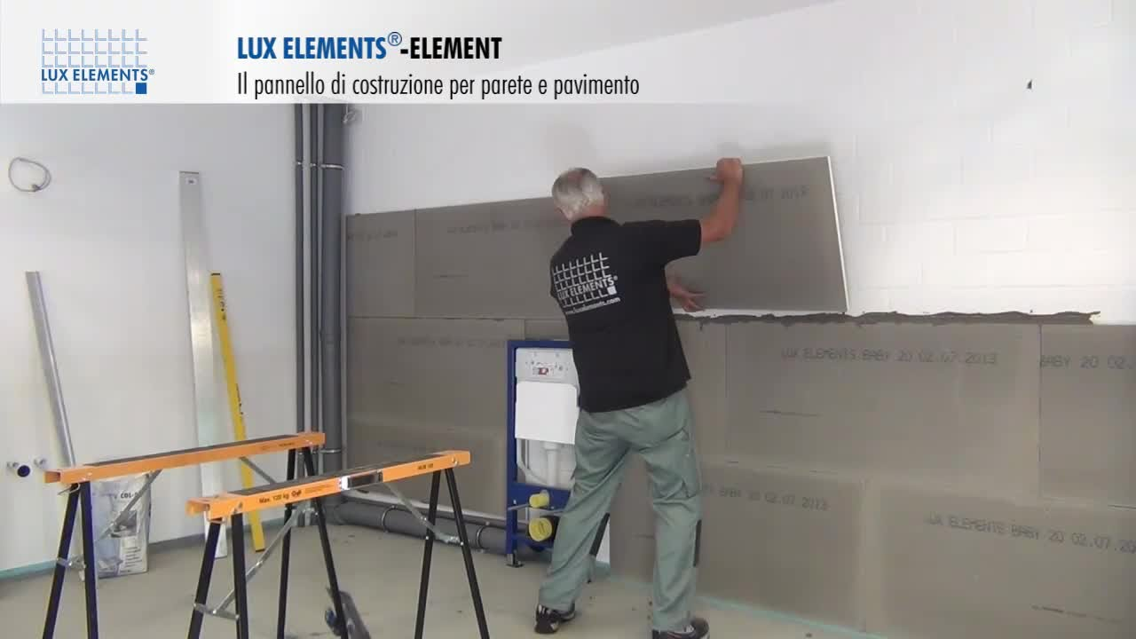 Montaggio Lux Elements Pannello Di Costruzione Element Come Rivestimento Per Parete Su Muratura