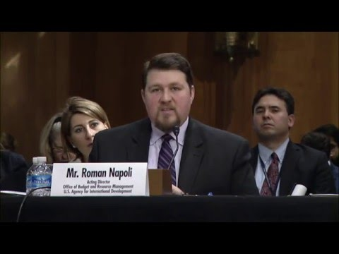 Senate Subcommittee Budget Review Testimony by Acting Director Napoli