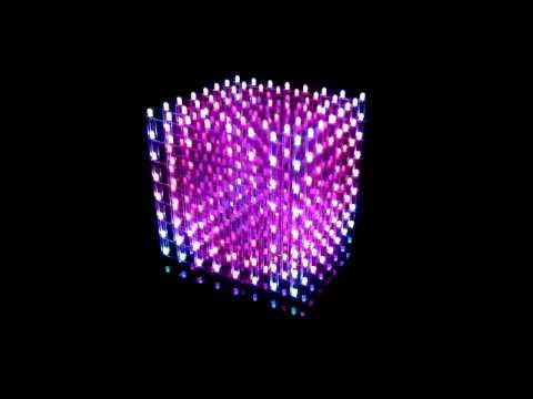 My Music Cube ( 3D RGB color LED Cube 8x8x8 )