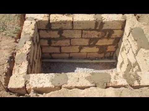 Колодец водоснабжения, кладка стен.