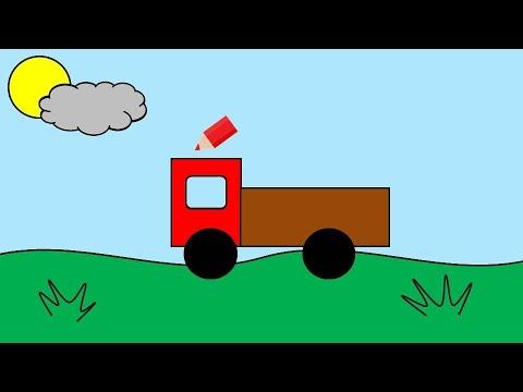 Учим цвета. Мультик-раскраска про грузовик - YouTube