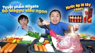 Tu yệt phẩm Nigata: Thịt bò wagyu ủ trong nhà tu yết và Nước ép lê Tây siêu ngon # 842