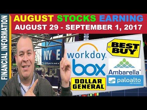 September Stocks Earnings📊| BestBuy HRBlock Ollies Box Workday Ambarella DG LuluLemon PANW
