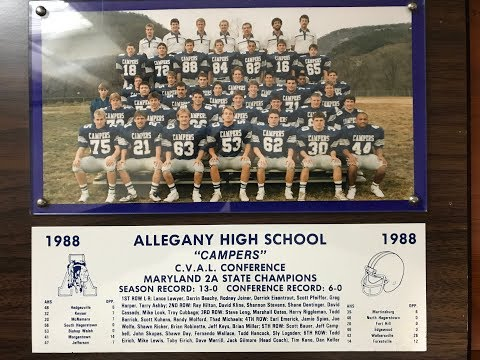 1988 Allegany High School Football Game 13 MD Class 2A Championship vs Forestville