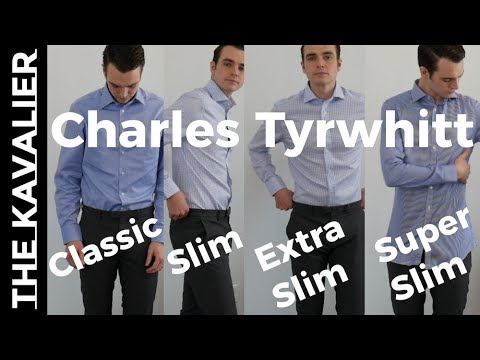 f71116876513 4 Fits Compared - Charles Tyrwhitt Dress Shirts Super Slim to Classic Try-On