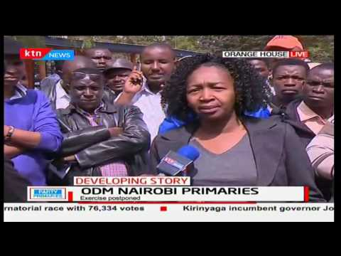 ODM Sec Gen. Agnes Zani speaks of the cancellation of the Nairobi primaries