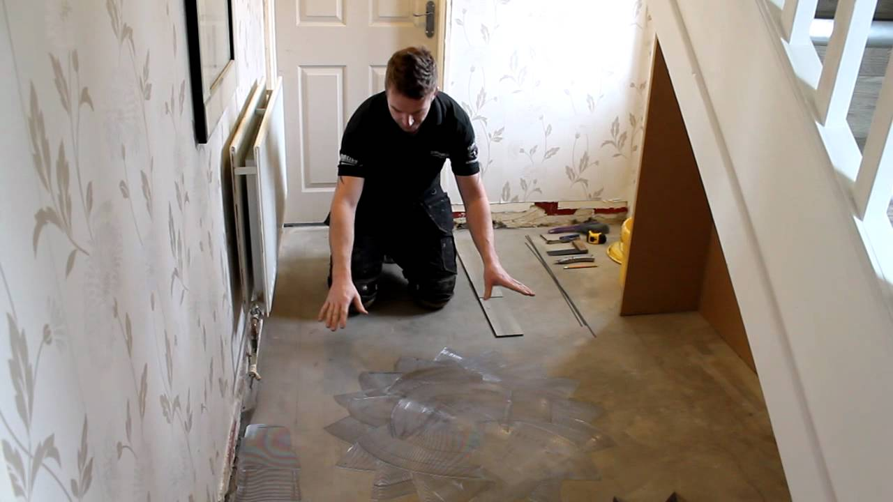 How to fit amtico flooring youtube for Removing amtico flooring