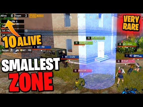 10 alive in this SMALLEST ZONE of PUBG Mobile | Elite Customs | K18