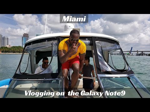 Vlogging on the Galaxy Note 9: Miami