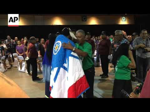 639d6868545d Celtics  Irving honored by Sioux tribe - YouTube
