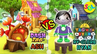 Super Rare Ry-Glorb Ryan (Tag with Ryan) vs Ash (Dash Tag) iPhone Race Game | Smiles Giggles Laughs