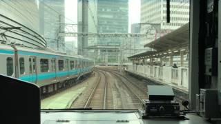 【電車動画】新橋~神田(Long ver.)Train driver's view Japan 山手線外回り前面撮影HD thumbnail