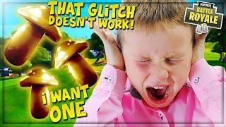 "TROLLING ANGRY NOOB WITH *NEW* MYTHIC MUSHROOM ""GLITCH"" ON FORTNITE! (Funny Fortnite Trolling)"