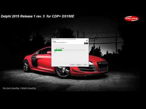 Установка Delphi 2015 Release 1 Rev. 3  для CDP+  DS150E