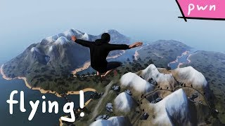 Flying and our first Flag! (Cow King) - Pwn Adventure 3