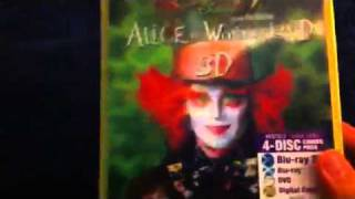 Alice In Wonderland 3D 4 disc Blu ray combo pack unboxing i