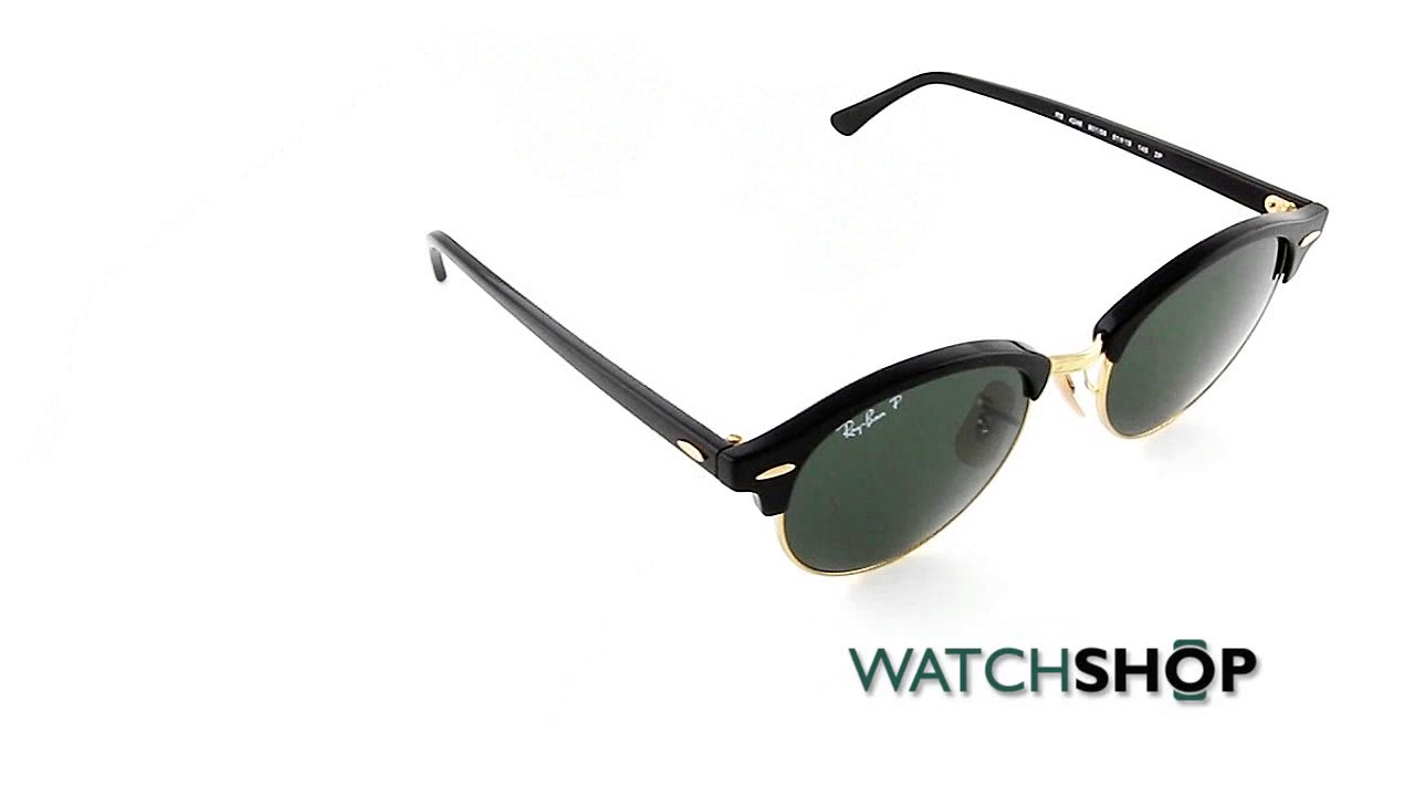 8b174a6fb8c Ray-Ban Clubround Sunglasses (RB4246-901 58-51) - YouTube