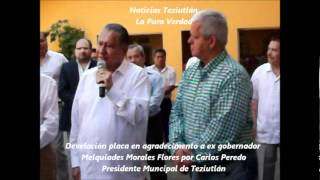 DEVELACION PLACA, EN CASA DE CULTURA DE TEZIUTLAN