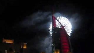Burj Al Arab new year's fireworks