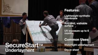Underlayment and Starter Installation Demo - Western Roofing Expo 2015 video thumbnail