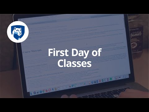 How Online Learning Works: First Day of Classes