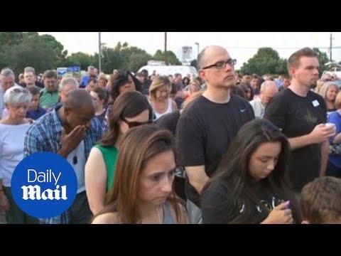 Hundreds attend vigil for slain sheriff's deputy in Houston - Daily Mail