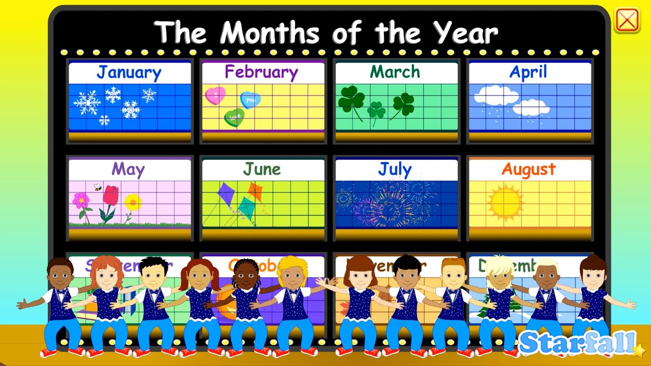 quotmonths of the yearquot a starfall� movie from starfallcom