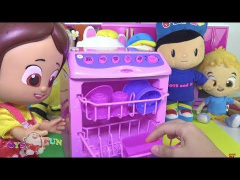Niloya'nın Bulaşık Makinesi Niloya'nın mutfağı Oyuncak Bulaşık makinası Niloya cizgi filmi bebeği 4K