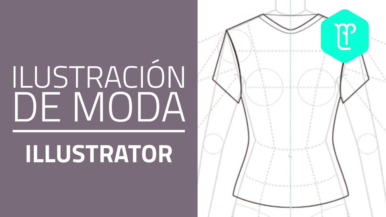 Cómo dibujar una camiseta básica en adobe Illustrator: utilizar la ...
